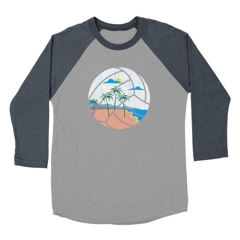 Beach Volleyball Men's Baseball Triblend T-Shirt by eikwox's Artist Shop