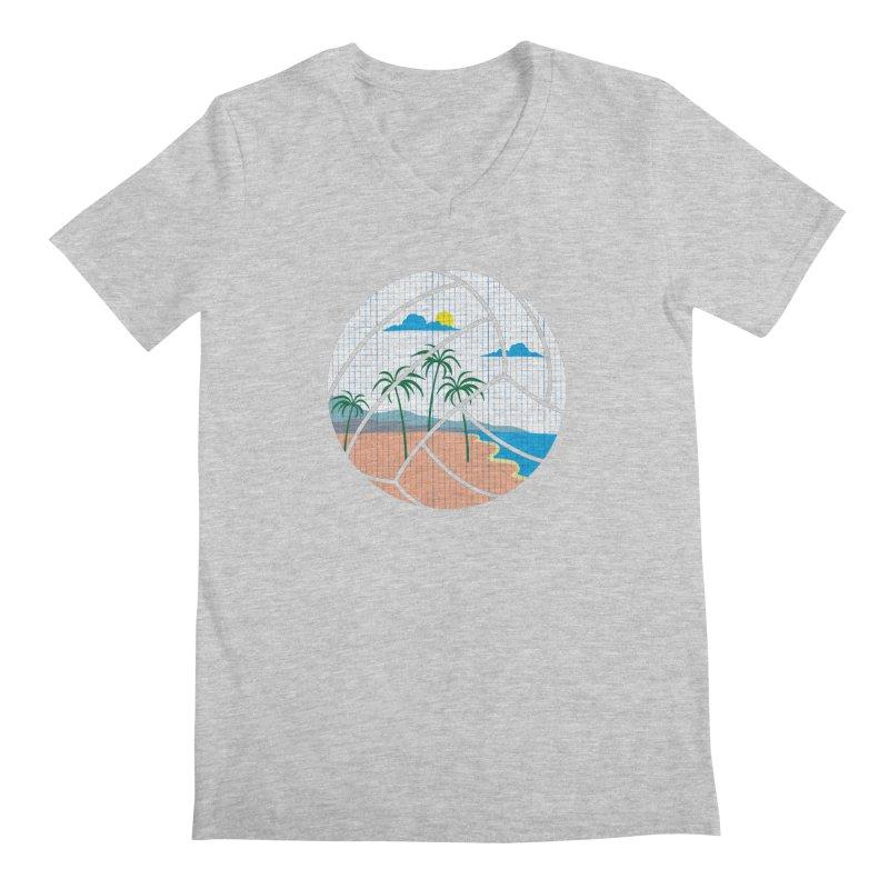 Beach Volleyball Men's V-Neck by eikwox's Artist Shop