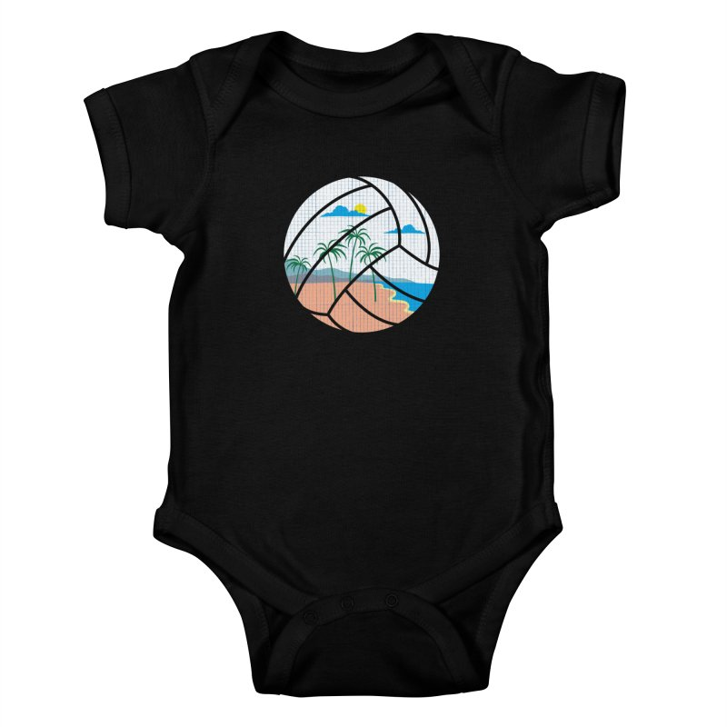 Beach Volleyball Kids Baby Bodysuit by eikwox's Artist Shop