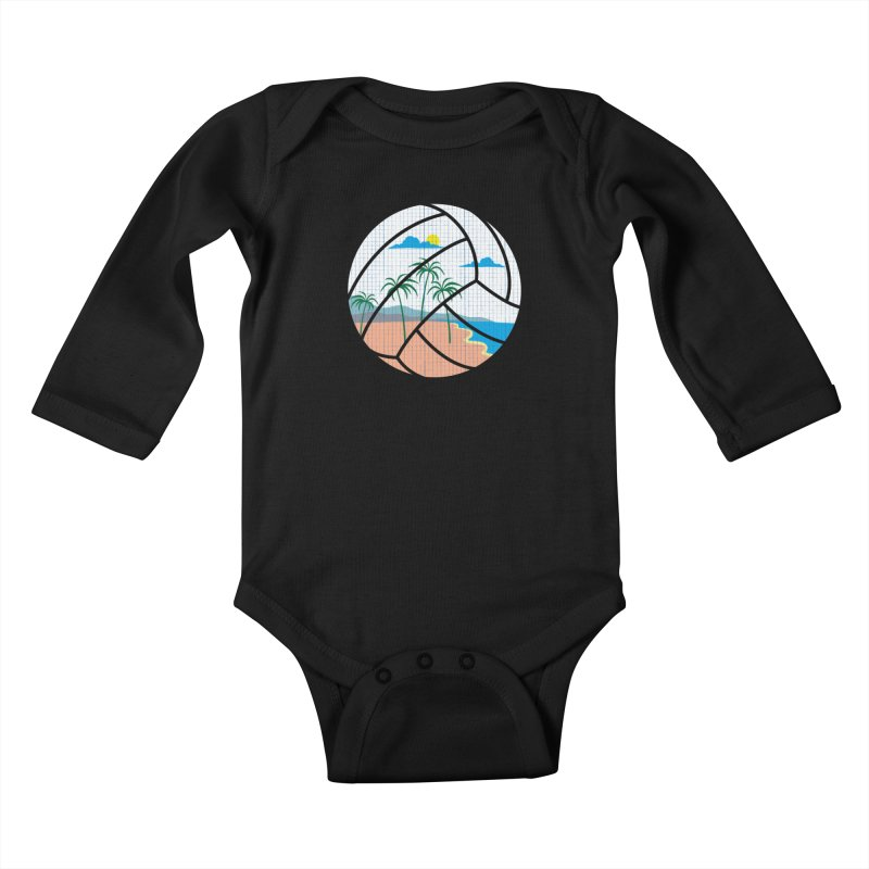 Beach Volleyball Kids Baby Longsleeve Bodysuit by eikwox's Artist Shop