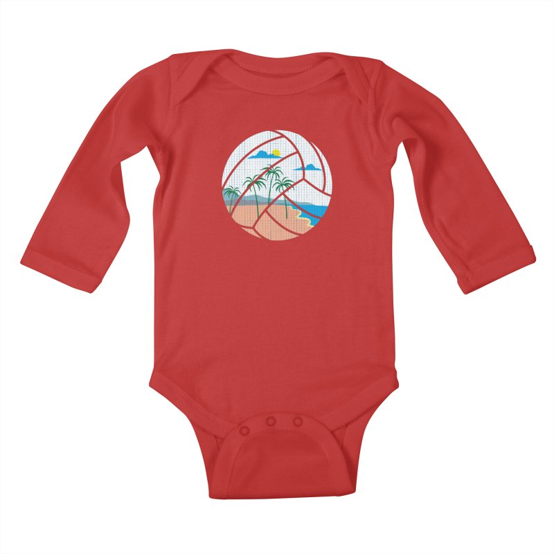 Beach Volleyball Kids Baby Longsleeve Bodysuit by eikwox's Artist Shop