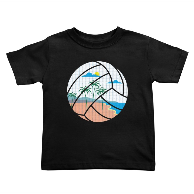 Beach Volleyball Kids Toddler T-Shirt by eikwox's Artist Shop