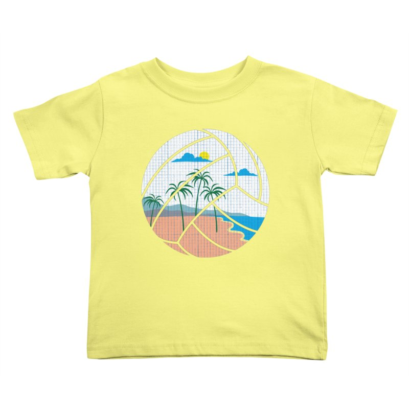Beach Volleyball Kids Toddler T-Shirt by eikwox's Artist Shop