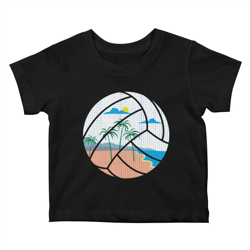 Beach Volleyball Kids Baby T-Shirt by eikwox's Artist Shop