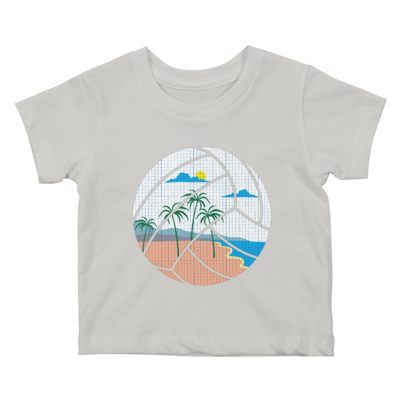 Beach Volleyball Kids Baby T-Shirt by eikwox's Artist Shop
