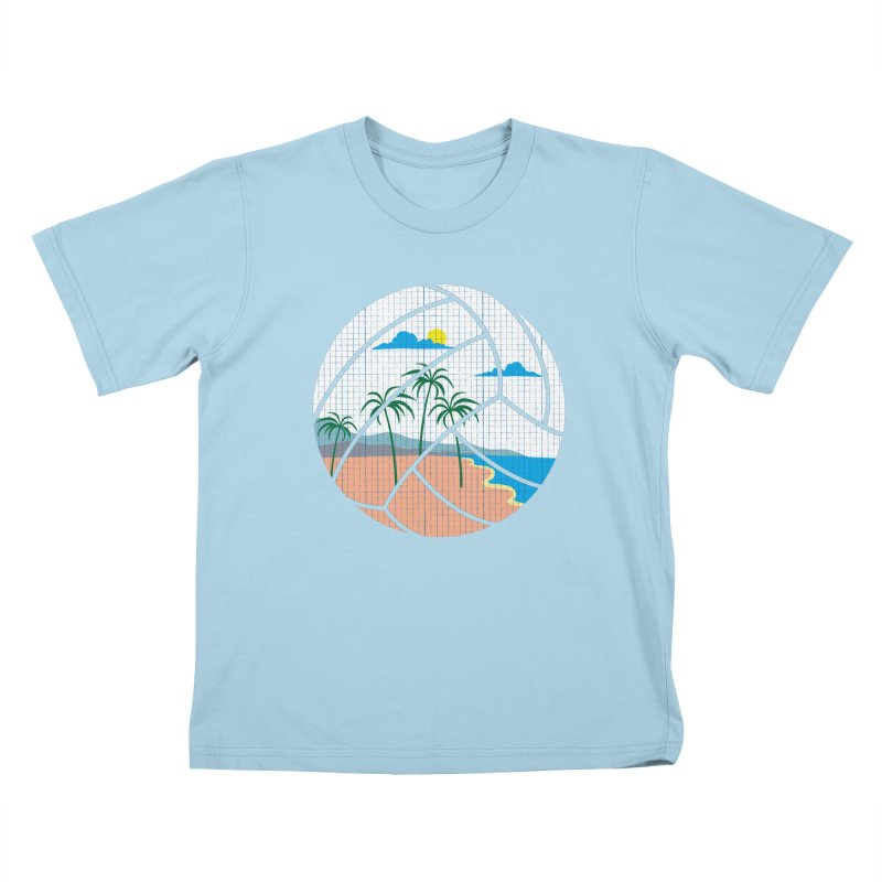 Beach Volleyball Kids T-Shirt by eikwox's Artist Shop