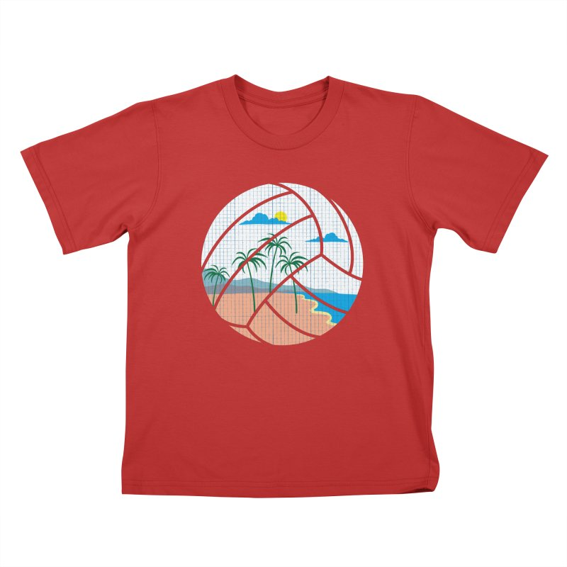 Beach Volleyball Kids T-Shirt by eikwox's Artist Shop