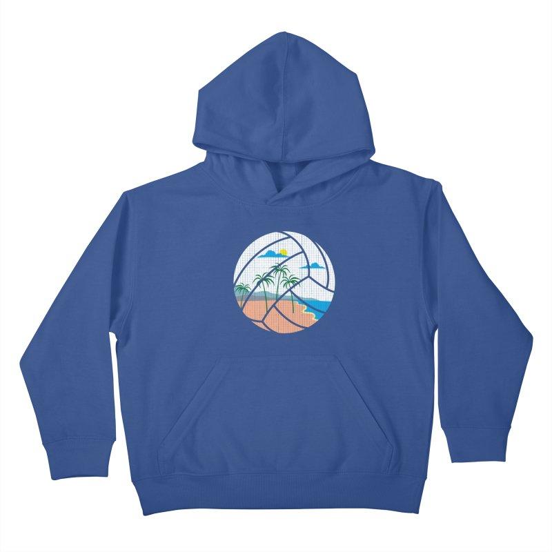 Beach Volleyball Kids Pullover Hoody by eikwox's Artist Shop
