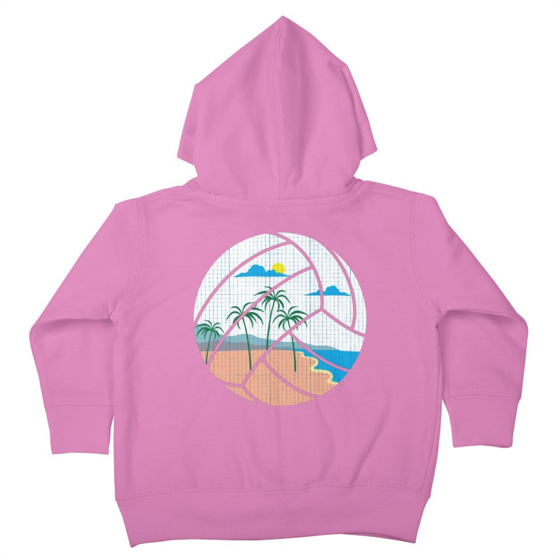 Beach Volleyball Kids Toddler Zip-Up Hoody by eikwox's Artist Shop