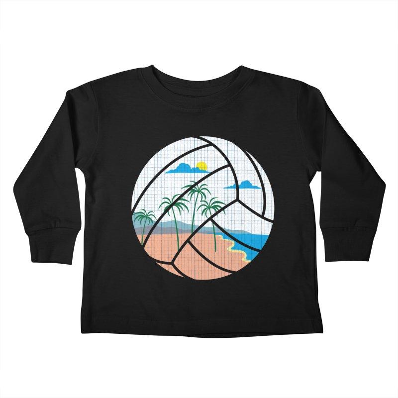 Beach Volleyball Kids Toddler Longsleeve T-Shirt by eikwox's Artist Shop