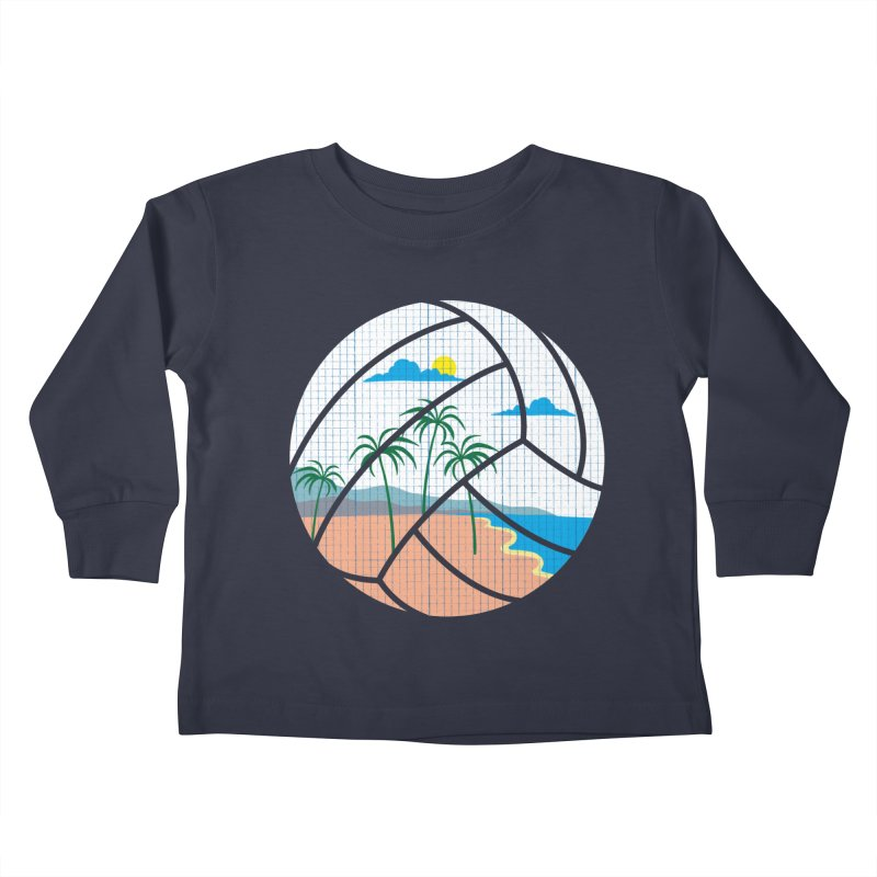 Beach Volleyball Kids Toddler Longsleeve T-Shirt by eikwox's Artist Shop