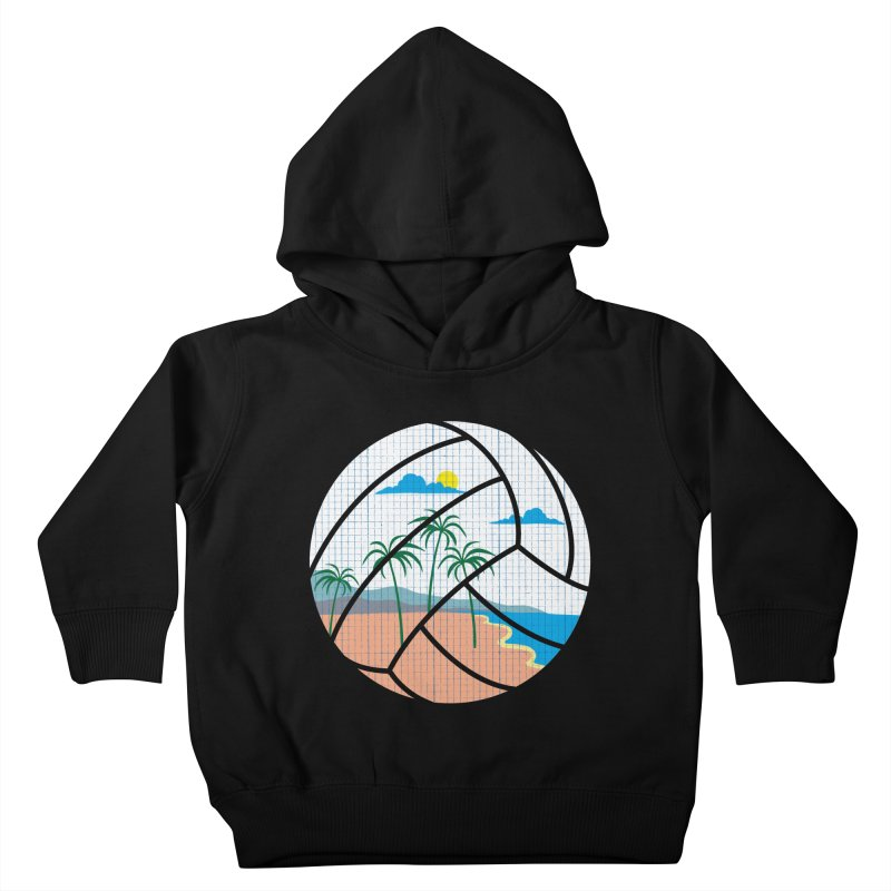 Beach Volleyball Kids Toddler Pullover Hoody by eikwox's Artist Shop