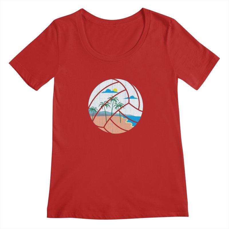 Beach Volleyball Women's Scoopneck by eikwox's Artist Shop