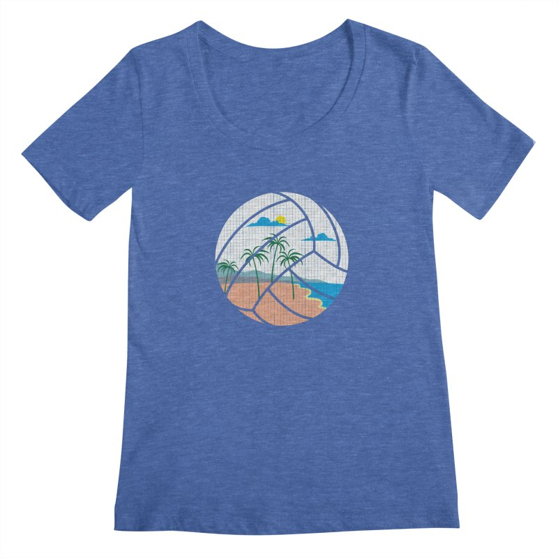 Beach Volleyball Women's Scoopneck by eikwox's Artist Shop
