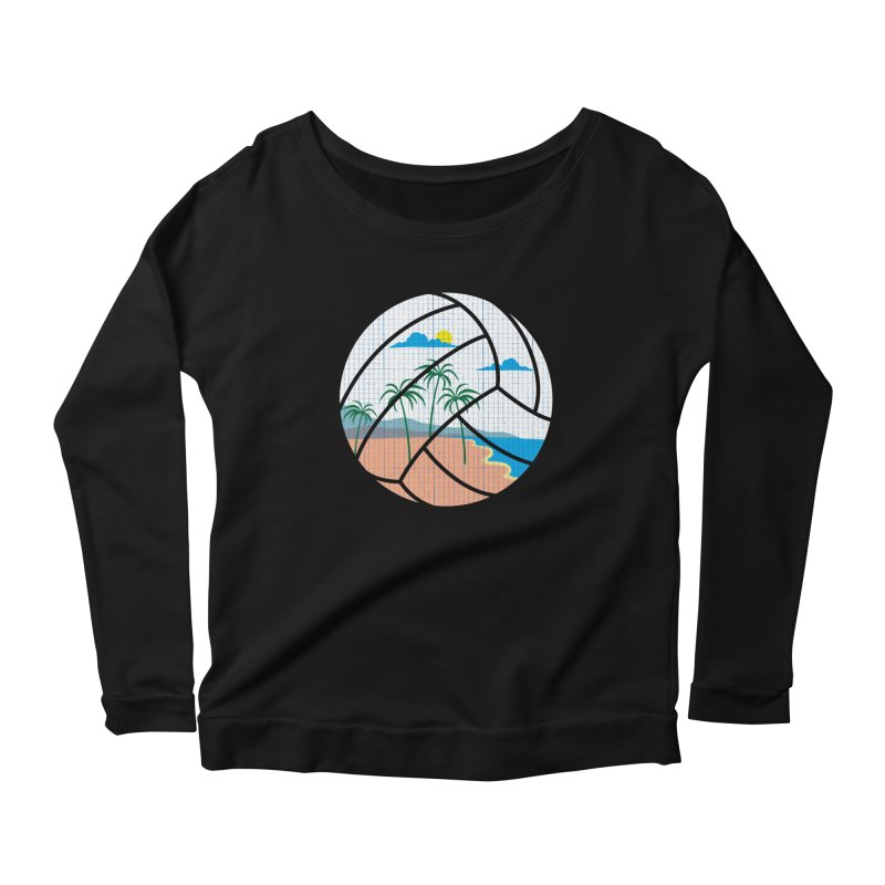 Beach Volleyball Women's Longsleeve Scoopneck  by eikwox's Artist Shop