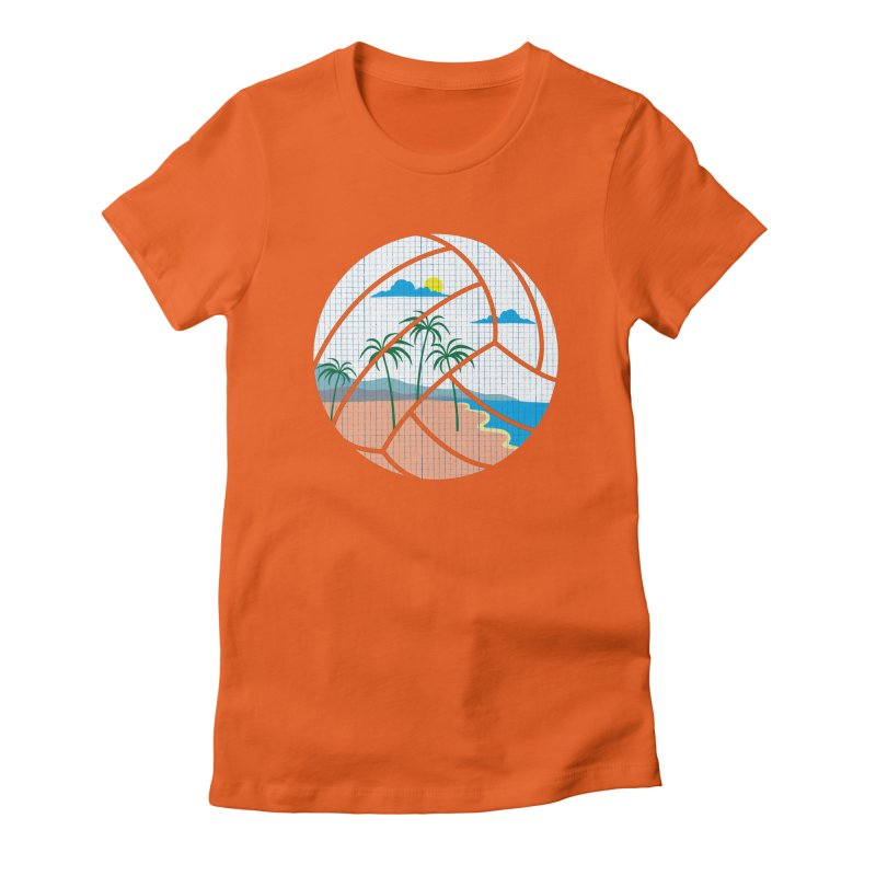 Beach Volleyball Women's Fitted T-Shirt by eikwox's Artist Shop