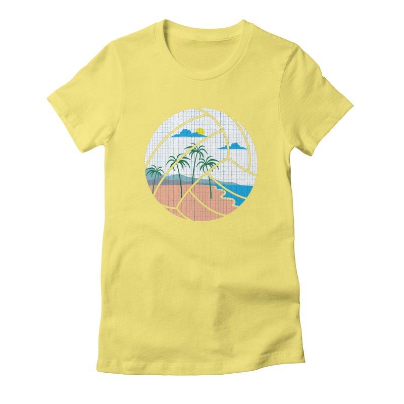 Beach Volleyball Women's Fitted T-Shirt by eikwox's Artist Shop