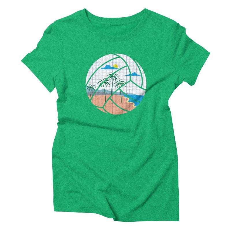 Beach Volleyball Women's Triblend T-Shirt by eikwox's Artist Shop