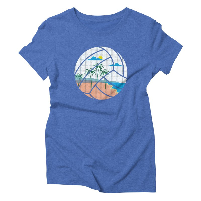 Beach Volleyball Women's Triblend T-shirt by eikwox's Artist Shop