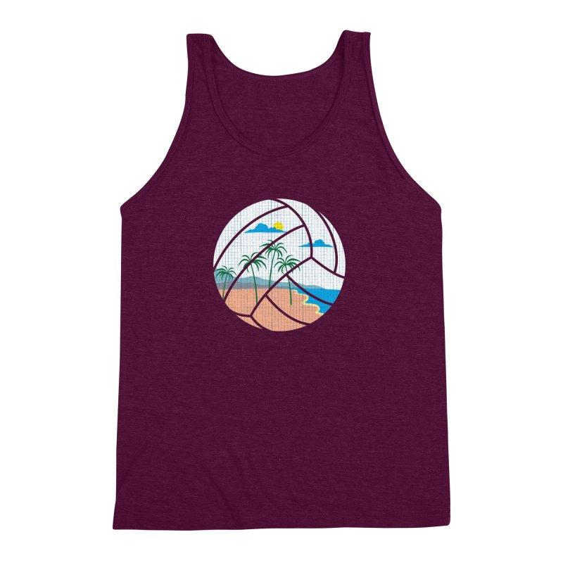 Beach Volleyball Men's Triblend Tank by eikwox's Artist Shop
