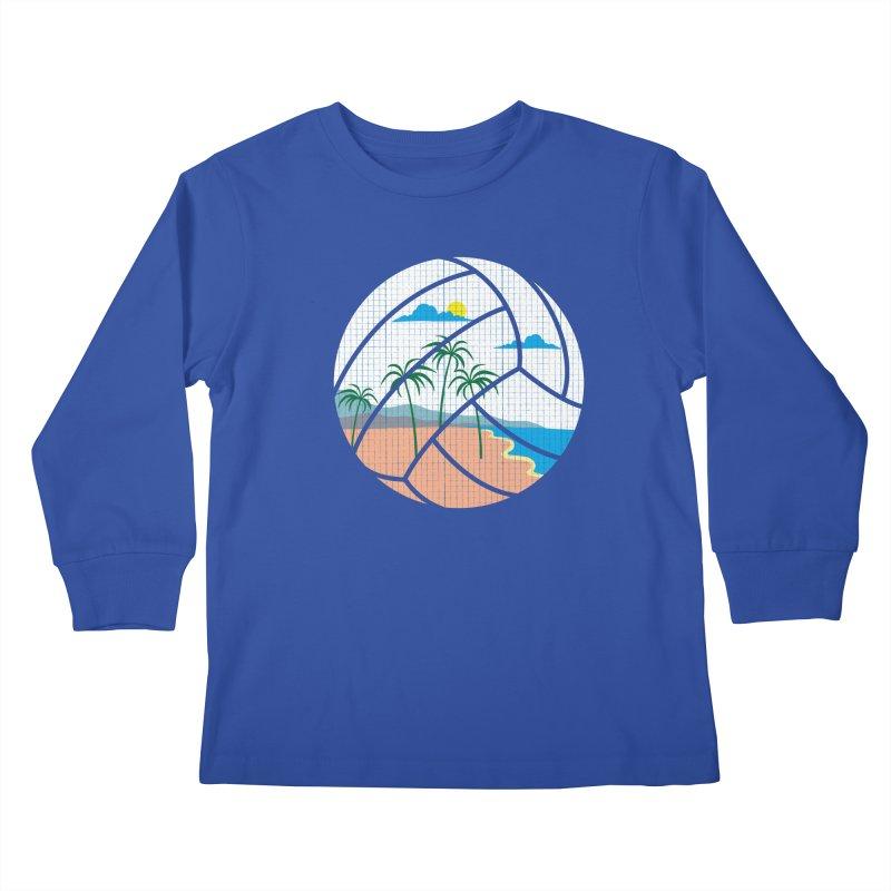 Beach Volleyball Kids Longsleeve T-Shirt by eikwox's Artist Shop