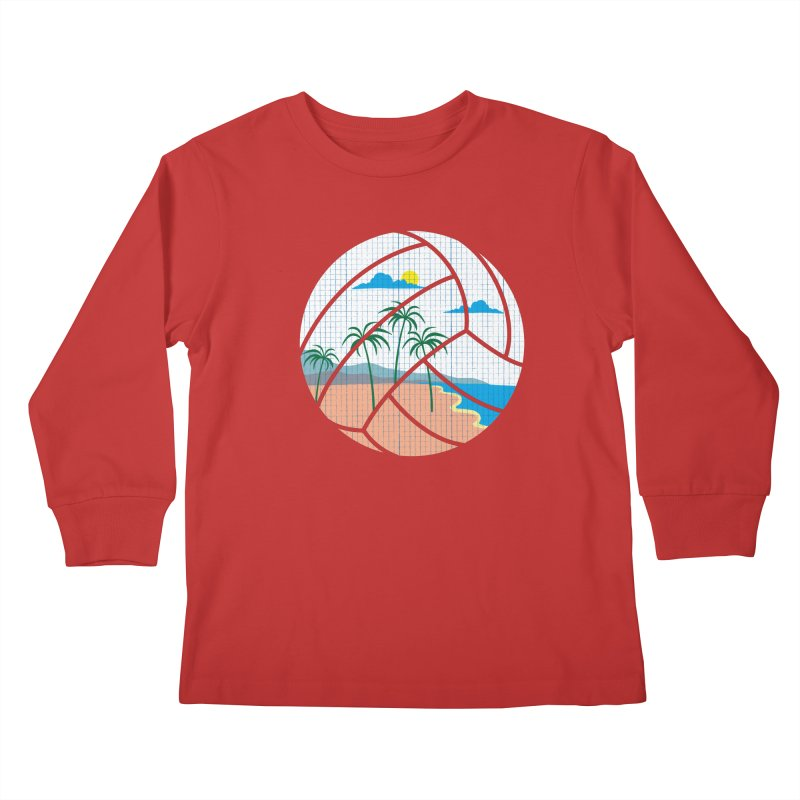 Beach Volleyball Kids Longsleeve T-Shirt by eikwox's Artist Shop