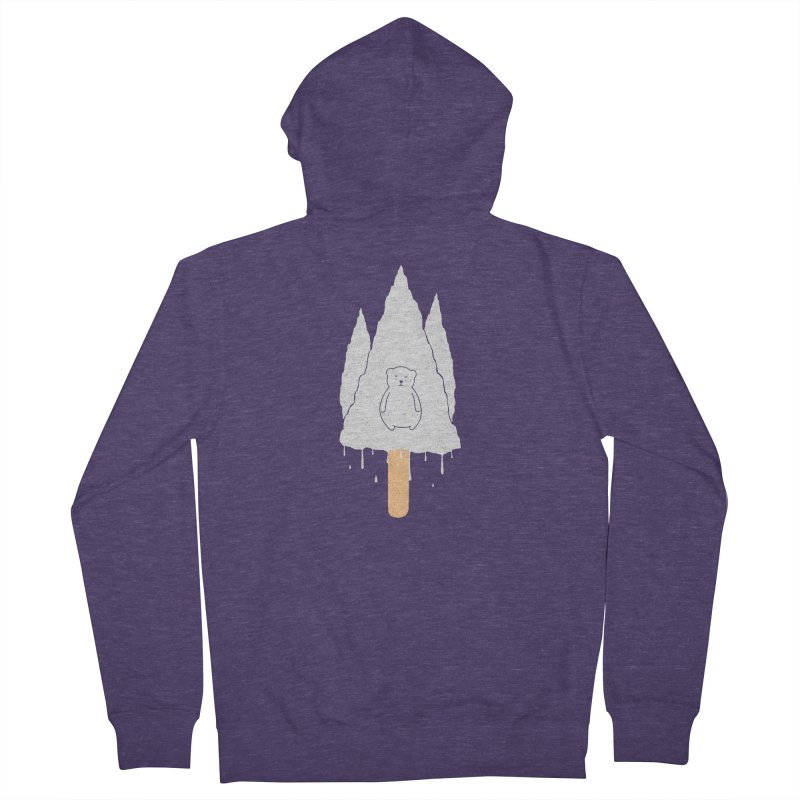 Tear Bear Men's French Terry Zip-Up Hoody by eikwox's Artist Shop