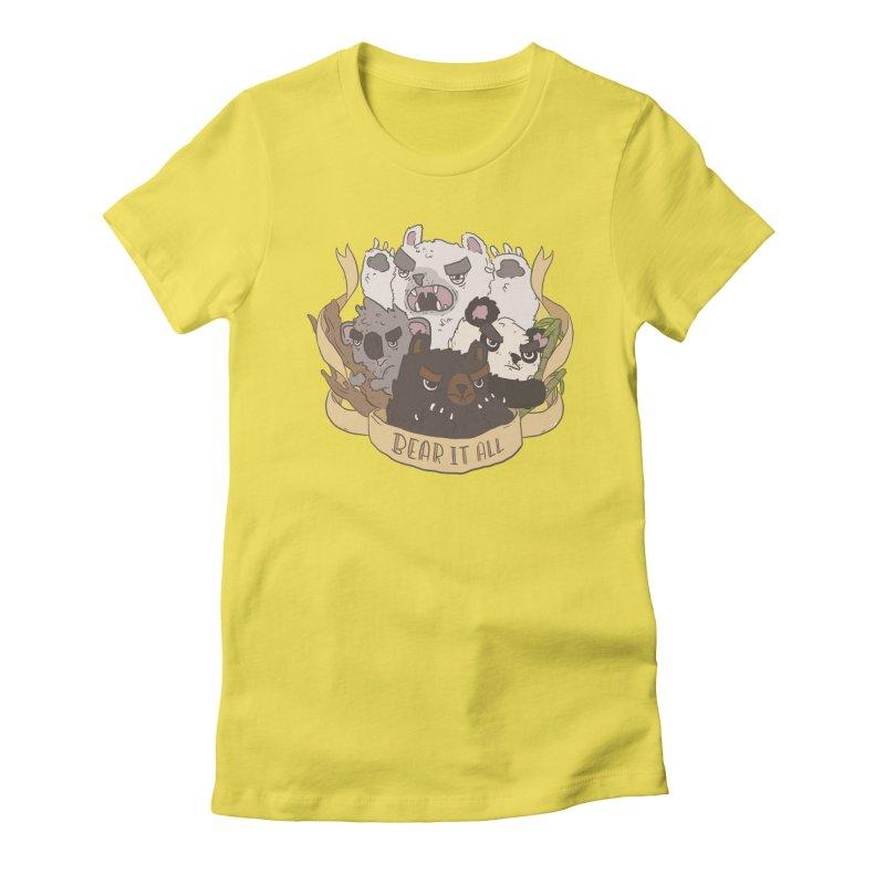 Bear it All Women's Fitted T-Shirt by ejcrews's Artist Shop