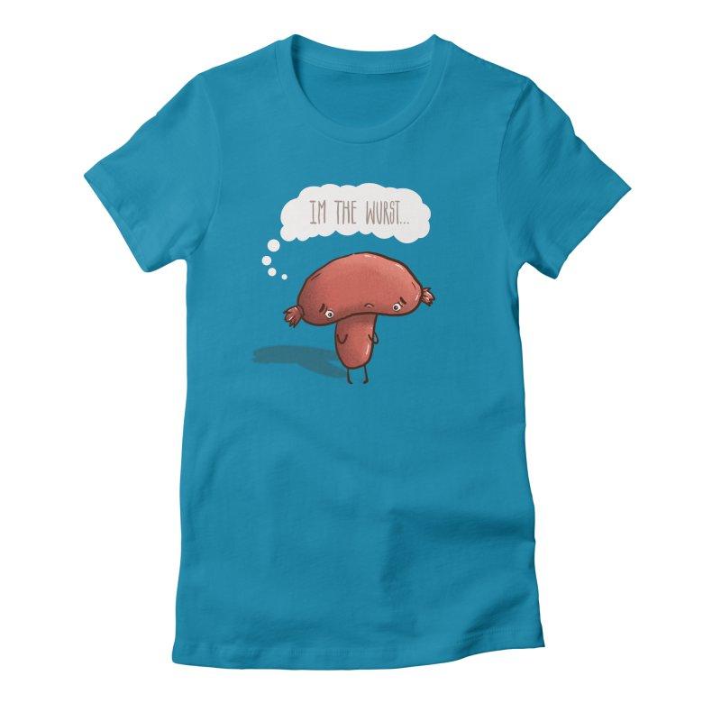 The Wurst Shirt Women's Fitted T-Shirt by ejcrews's Artist Shop