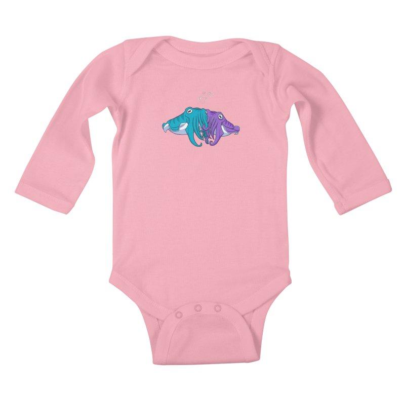 Cuddlefish Kids Baby Longsleeve Bodysuit by Emily Kuznia's Artist Shop