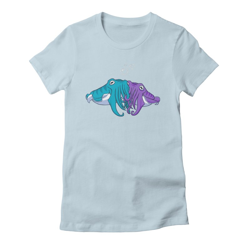 Cuddlefish Women's Fitted T-Shirt by Emily Kuznia's Artist Shop