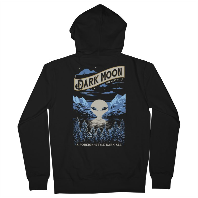 Dark Moon Men's Zip-Up Hoody by elanharris's Artist Shop