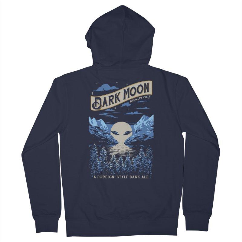 Dark Moon Men's Zip-Up Hoody by elanharris's Artist Shop