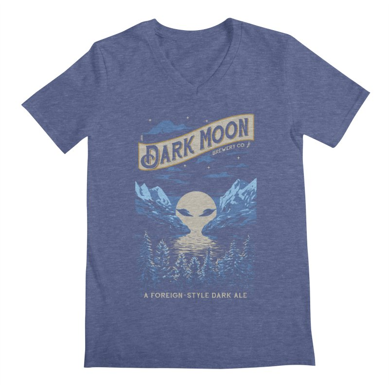 Dark Moon Men's V-Neck by elanharris's Artist Shop