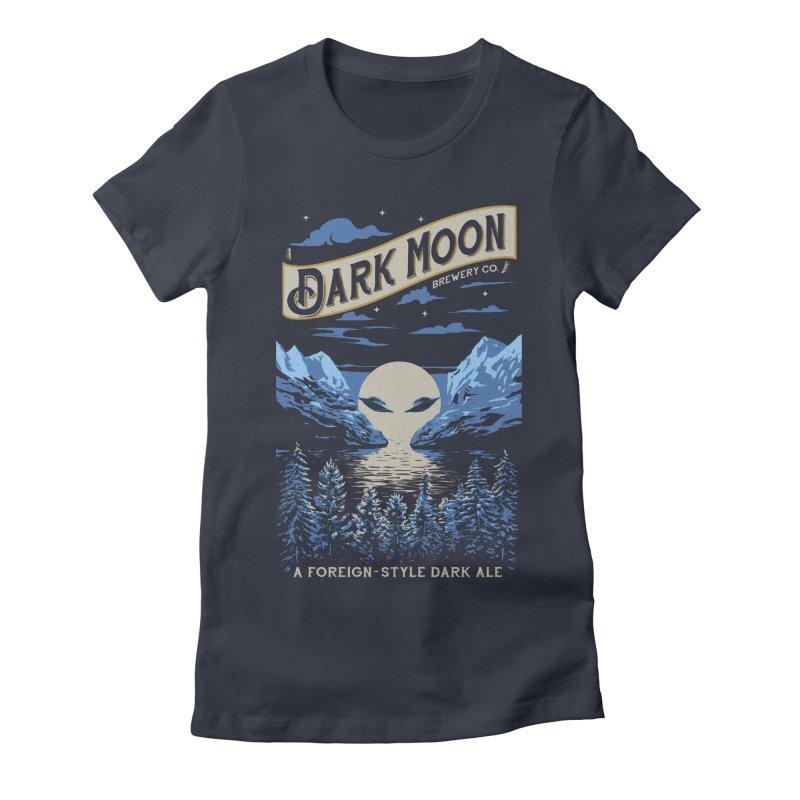 Dark Moon Women's Fitted T-Shirt by elanharris's Artist Shop