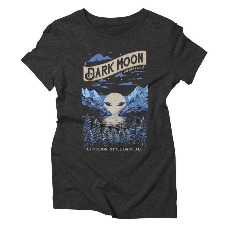 Dark Moon Women's Triblend T-Shirt by elanharris's Artist Shop