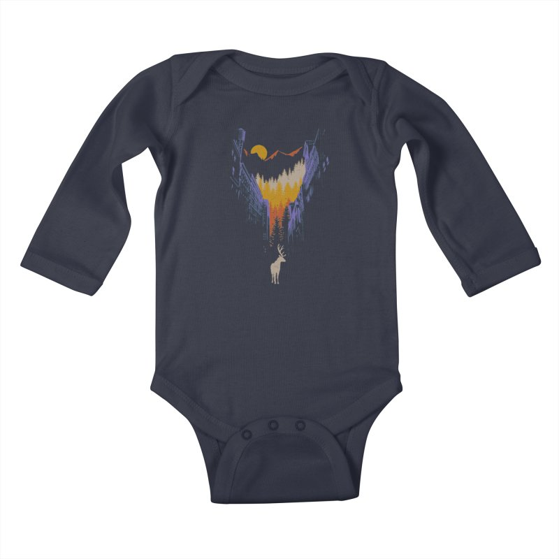 The Wanderer Kids Baby Longsleeve Bodysuit by elanharris's Artist Shop
