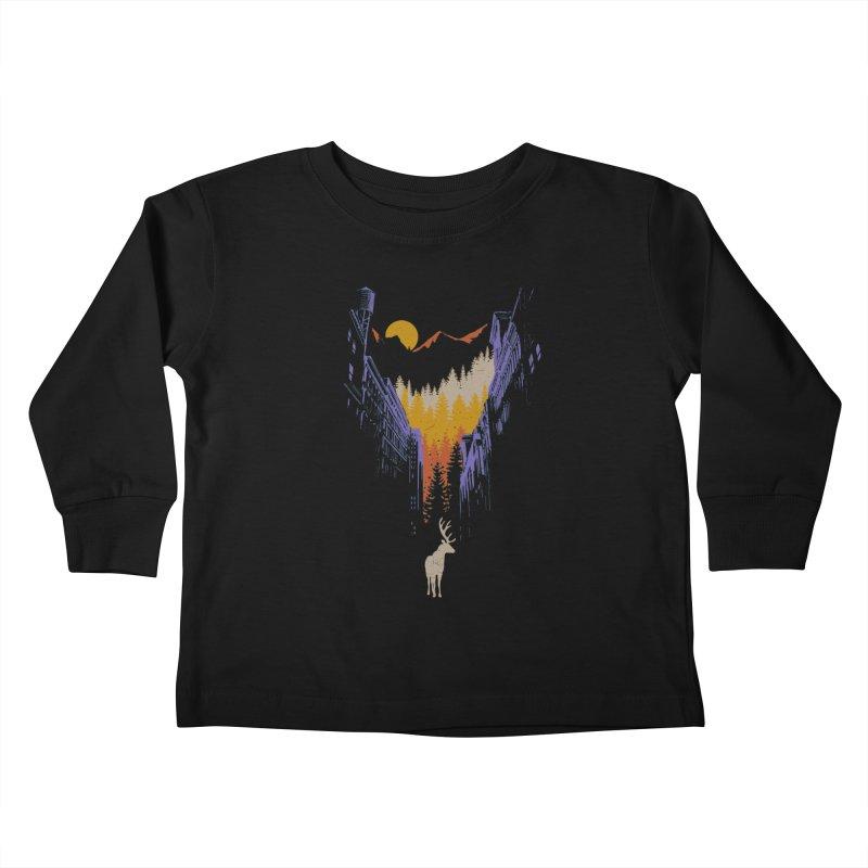 The Wanderer Kids Toddler Longsleeve T-Shirt by elanharris's Artist Shop