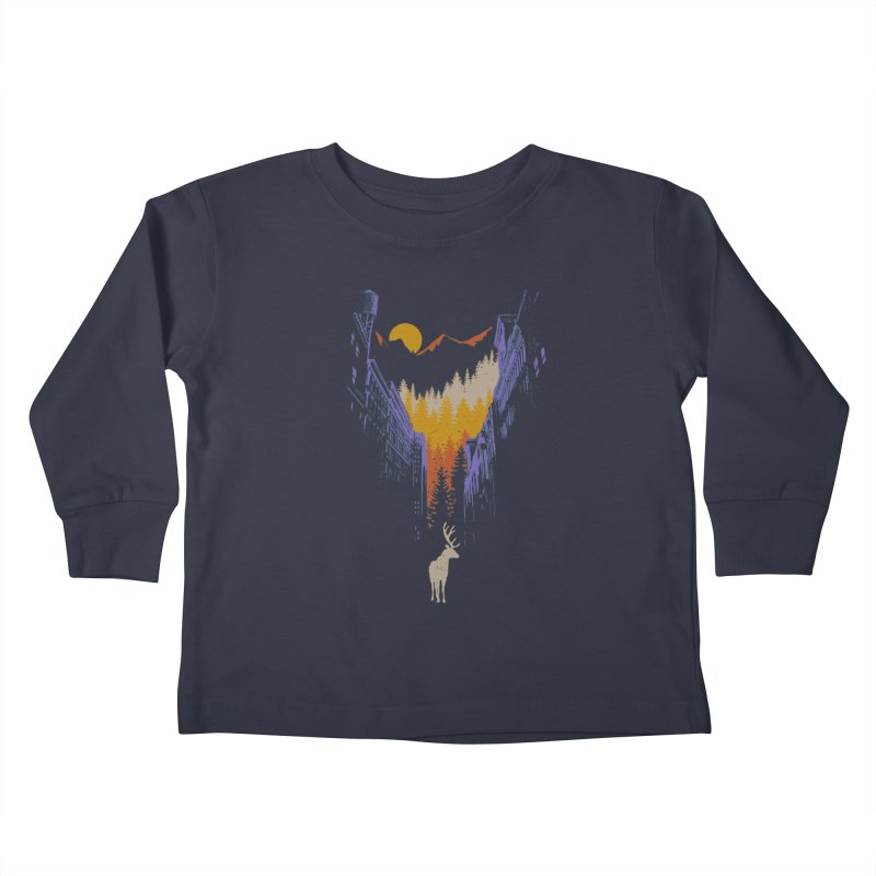 The Wanderer Kids Toddler Longsleeve T-Shirt by elanharris's Artist Shop