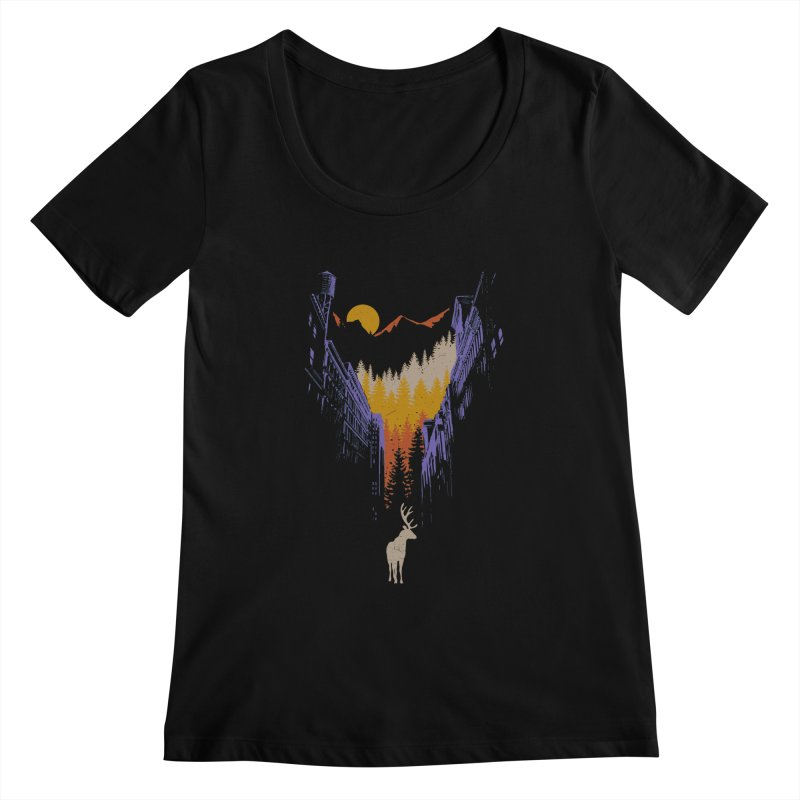 The Wanderer Women's Scoopneck by elanharris's Artist Shop