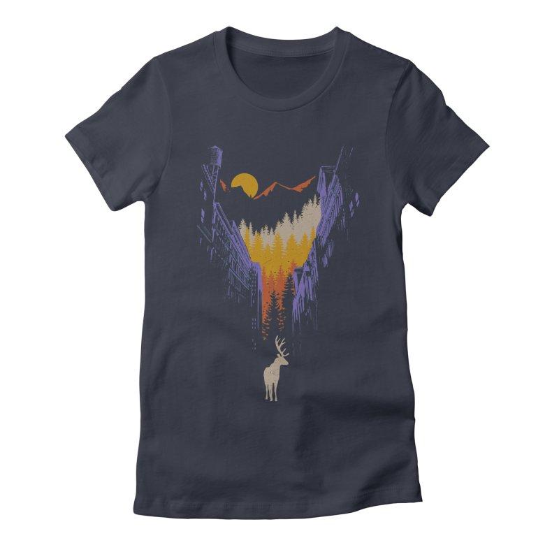 The Wanderer Women's Fitted T-Shirt by elanharris's Artist Shop