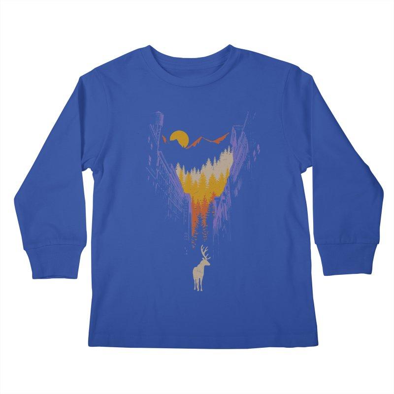 The Wanderer Kids Longsleeve T-Shirt by elanharris's Artist Shop