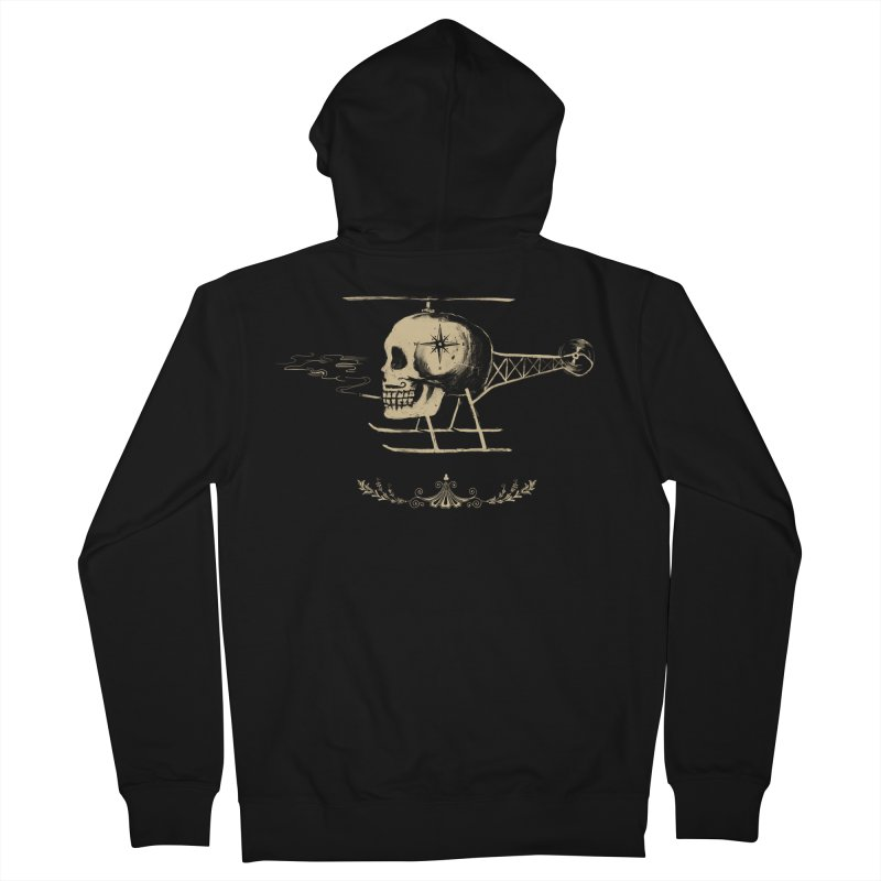 Skullicopter Men's Zip-Up Hoody by elanharris's Artist Shop