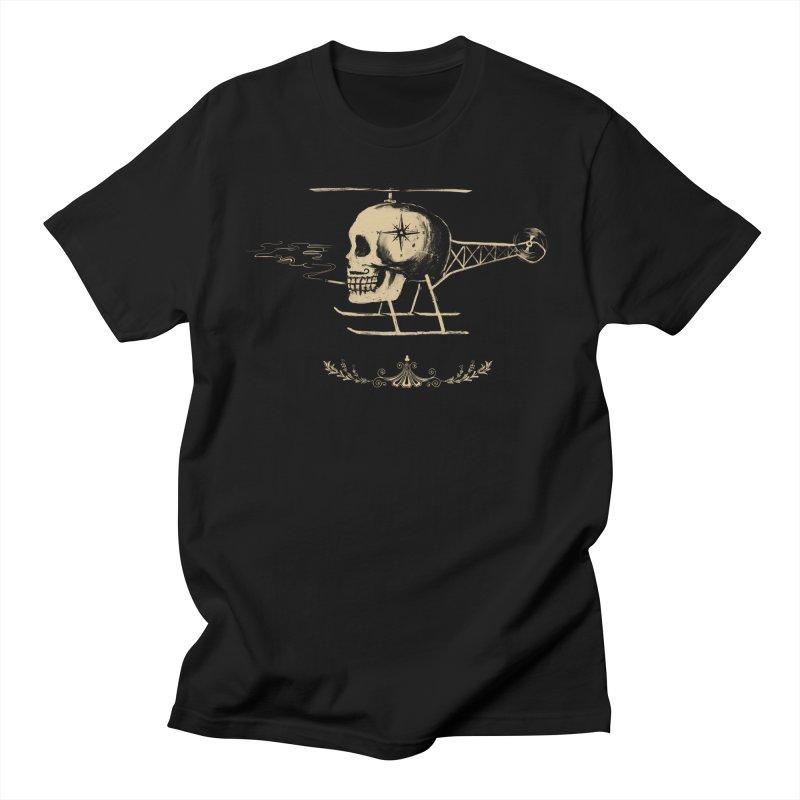 Skullicopter Men's T-shirt by elanharris's Artist Shop