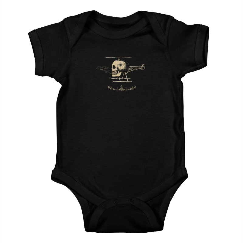 Skullicopter Kids Baby Bodysuit by elanharris's Artist Shop