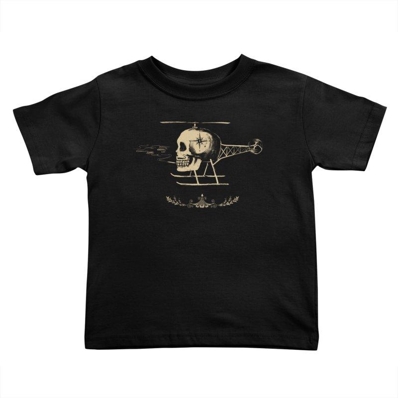 Skullicopter Kids Toddler T-Shirt by elanharris's Artist Shop