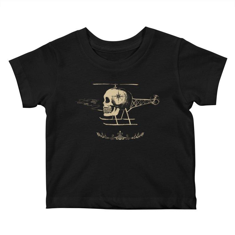 Skullicopter Kids Baby T-Shirt by elanharris's Artist Shop