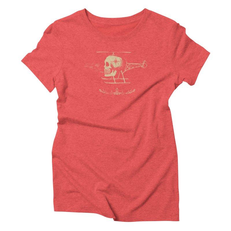 Skullicopter Women's Triblend T-shirt by elanharris's Artist Shop