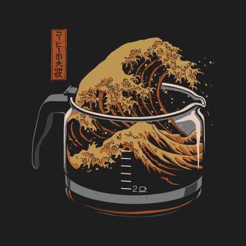 Design for The Great Wave of Coffee