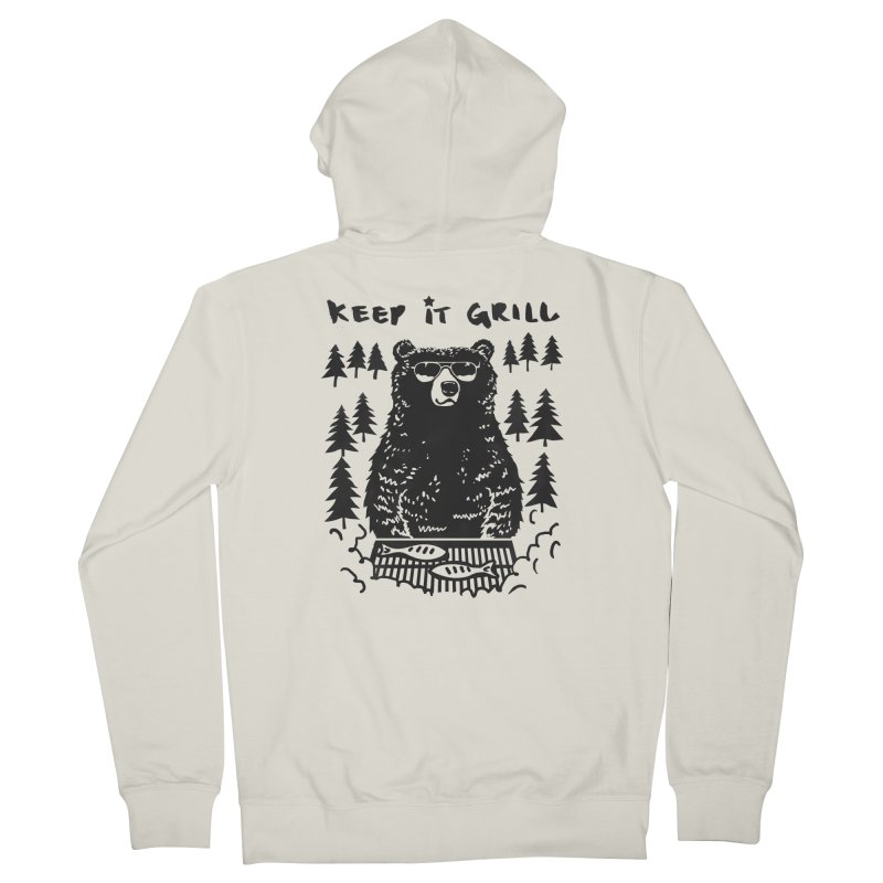 keep It Grill Women's Zip-Up Hoody by elanharris's Artist Shop